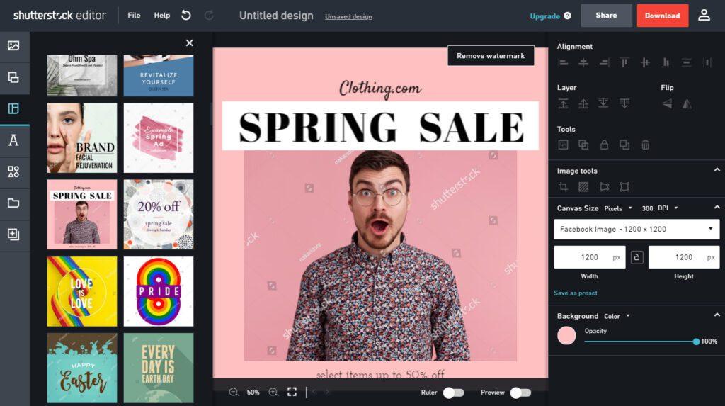 shutterstock-free-online-design-editor-maker