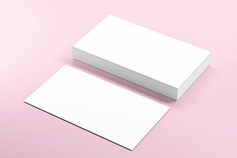 3d Business card mockup generator templates