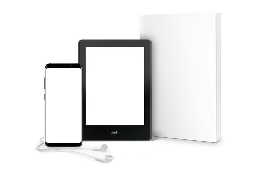 digital e-book audiobook online mockup generator