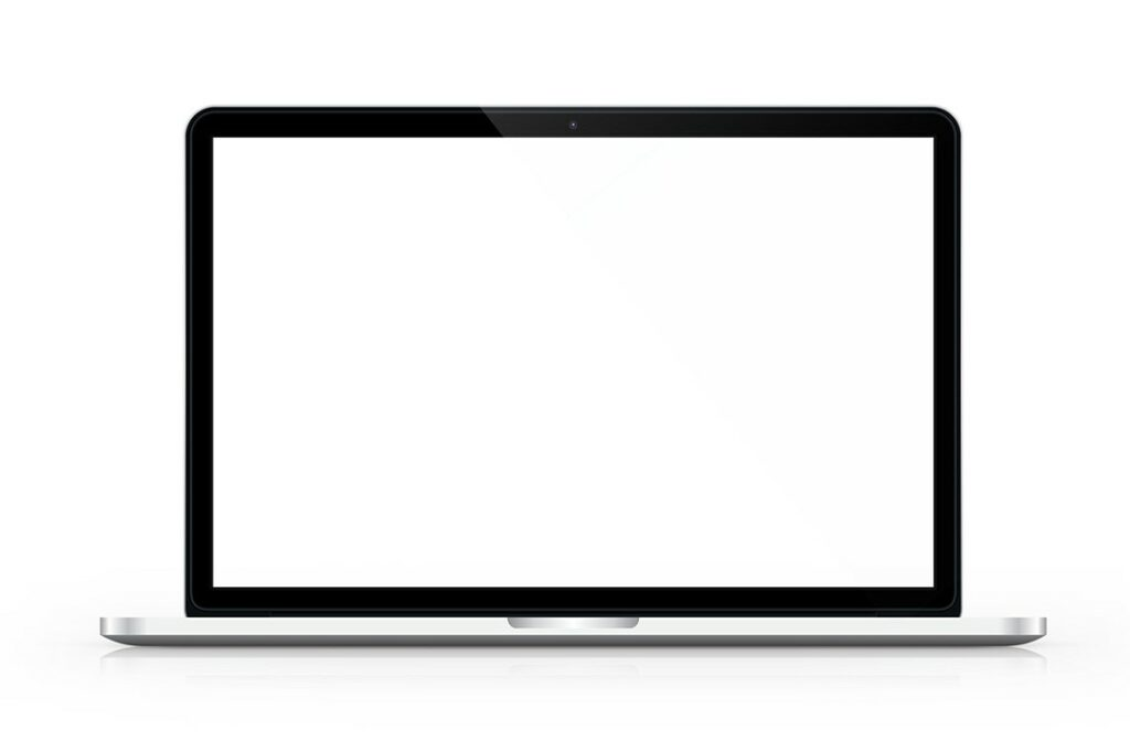 front view macbook mockup for website showcase