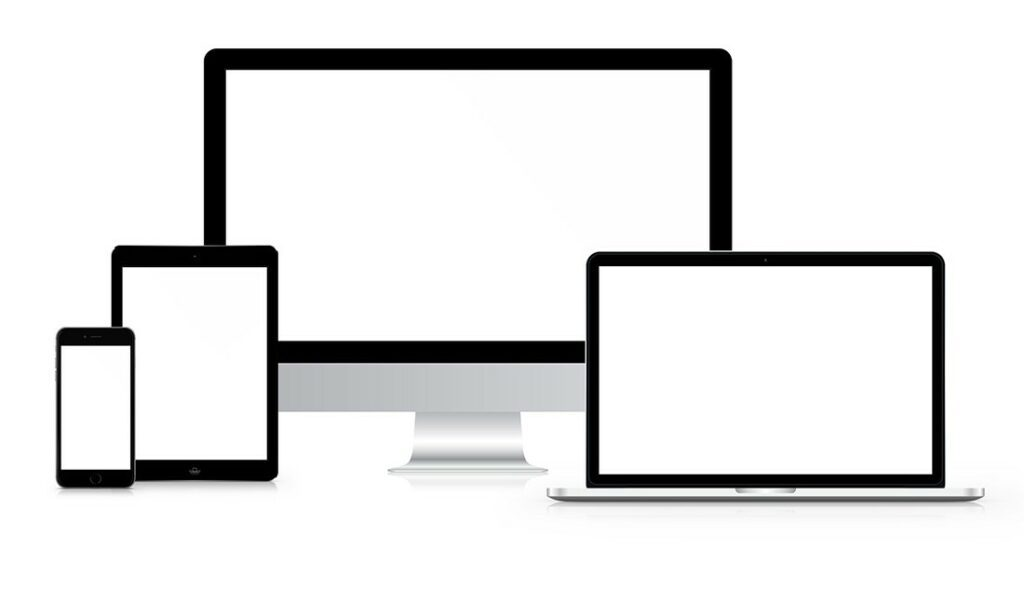 responsive website mockup with multi devices