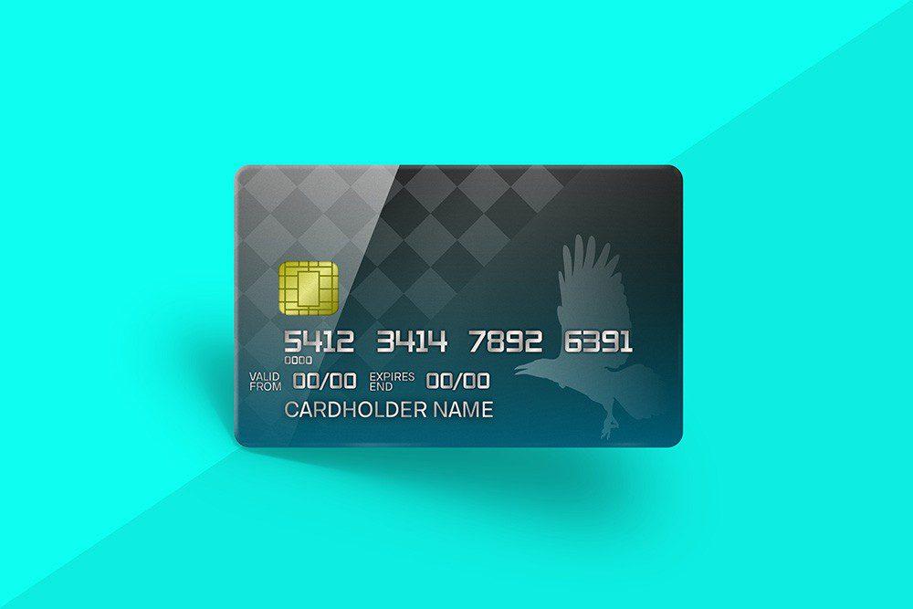 3d credit card mockup design