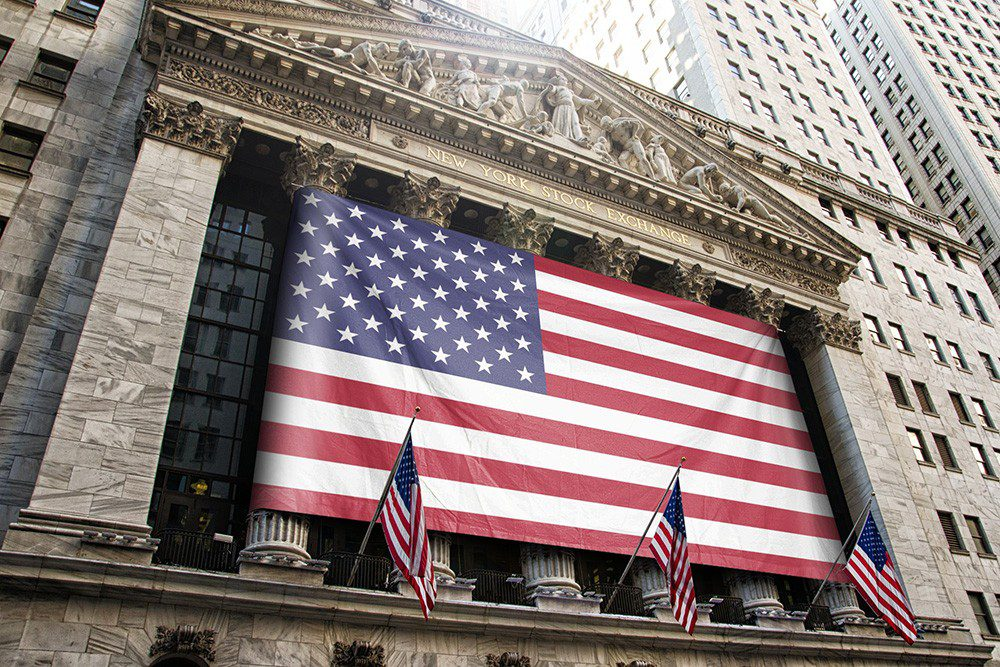 New York Stock Exchange Flag Online Mockup Generator