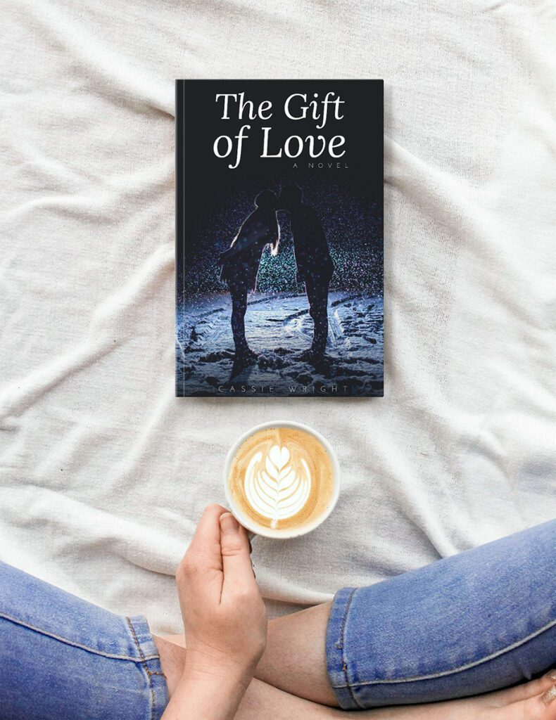 book-on-bed-woman-with-coffee-cover-mockup-generator