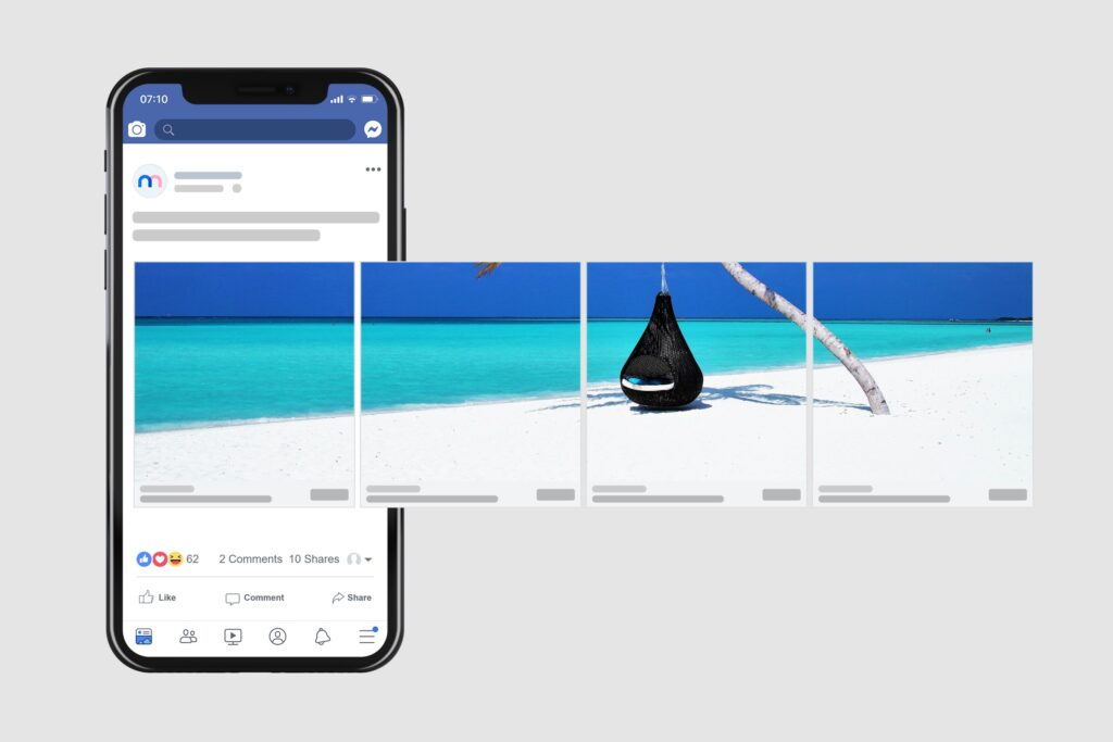 facebook Carousel Ad Mockup Maker Template Preview