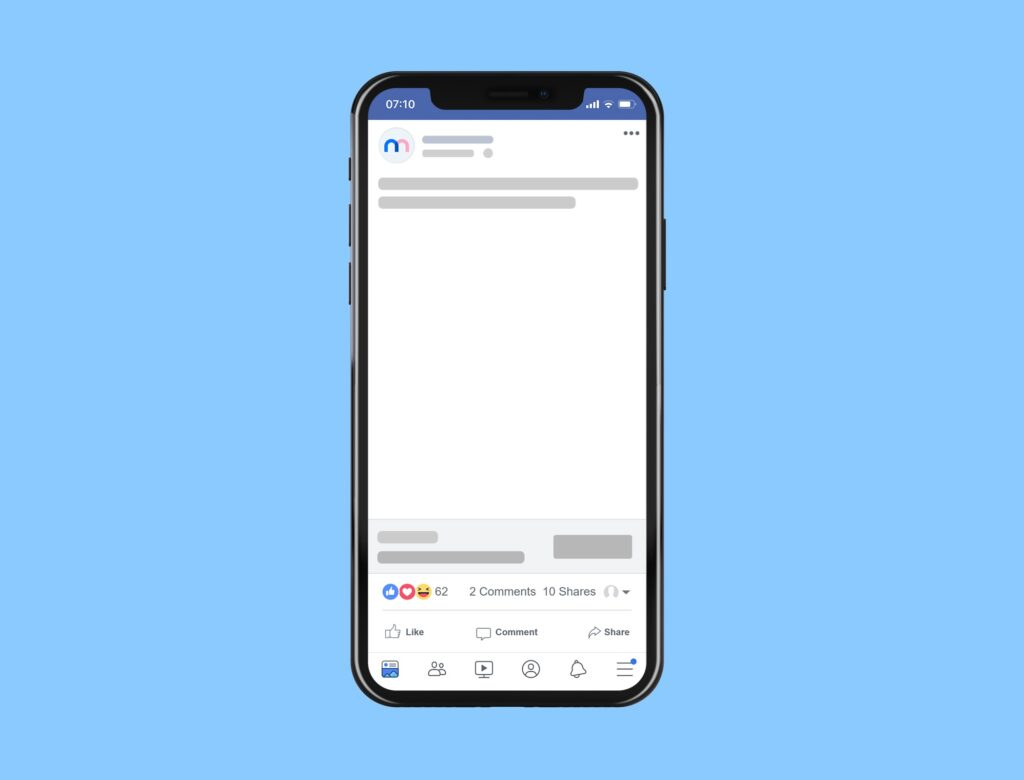 facebook mobile post mockup generator