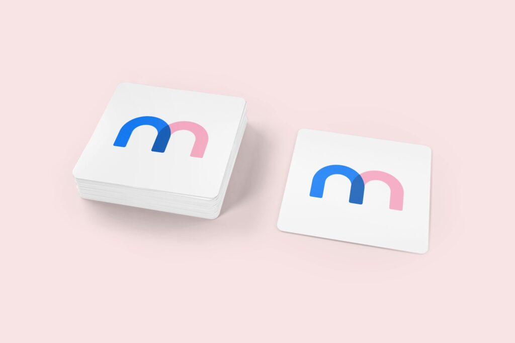 Square Stickers 3d Mockup Template