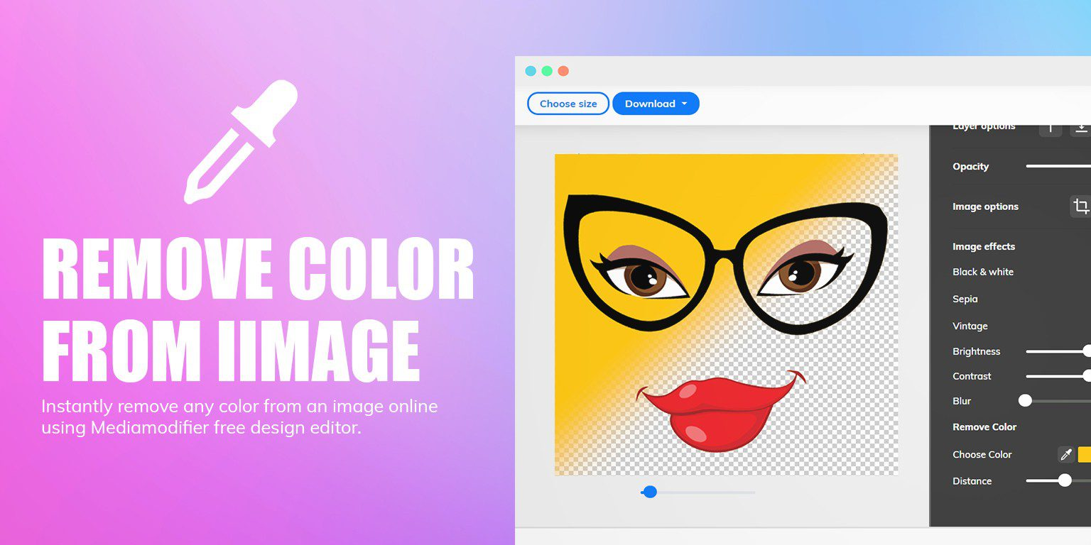 Instantly Remove Color From Any Image Online Using Mediamodifier Free Design Editor