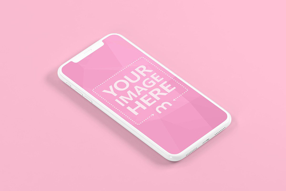 free 3d iphone on ground mockup generator