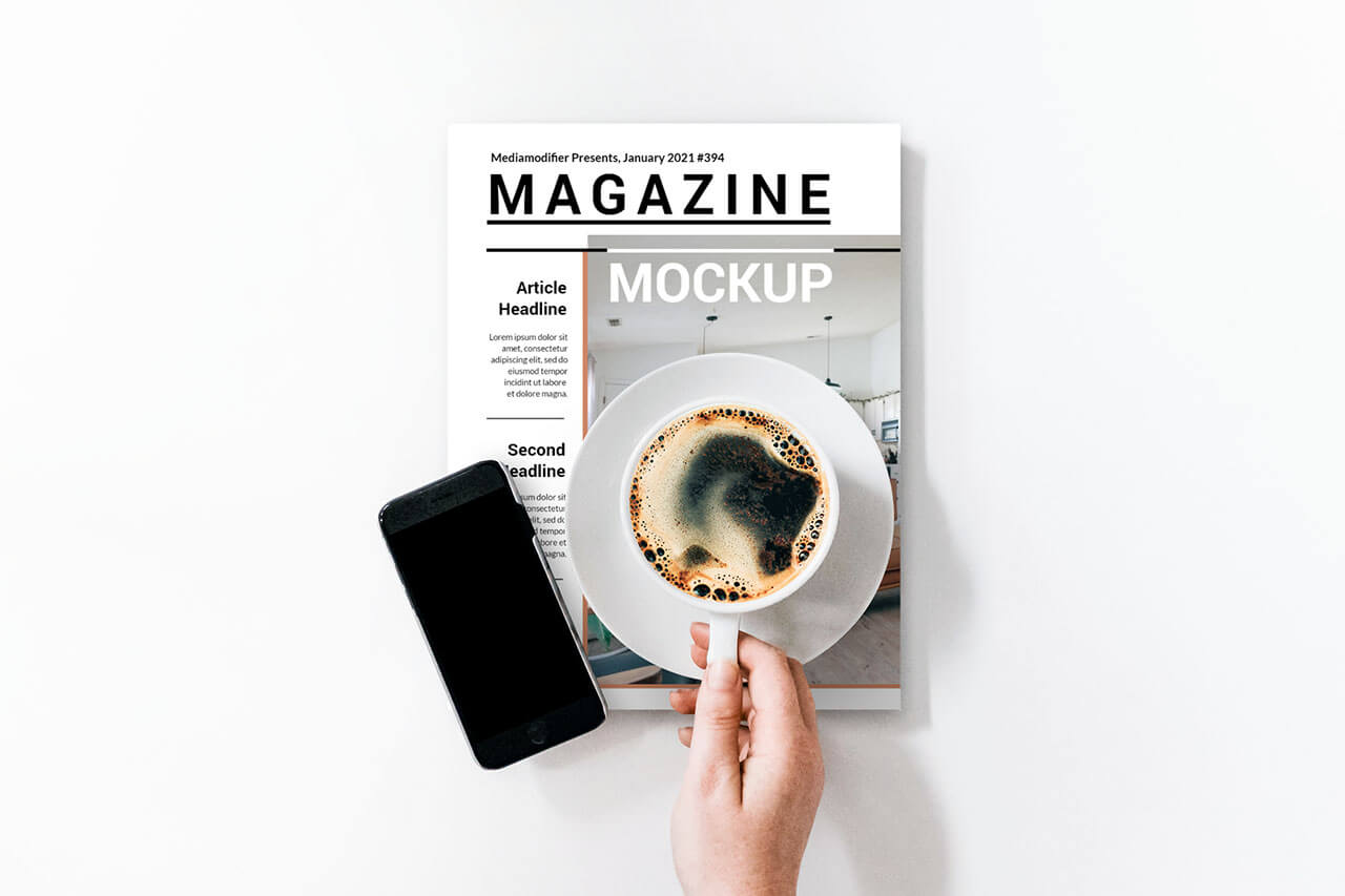 12-magazine-on-desk-mockup-generator