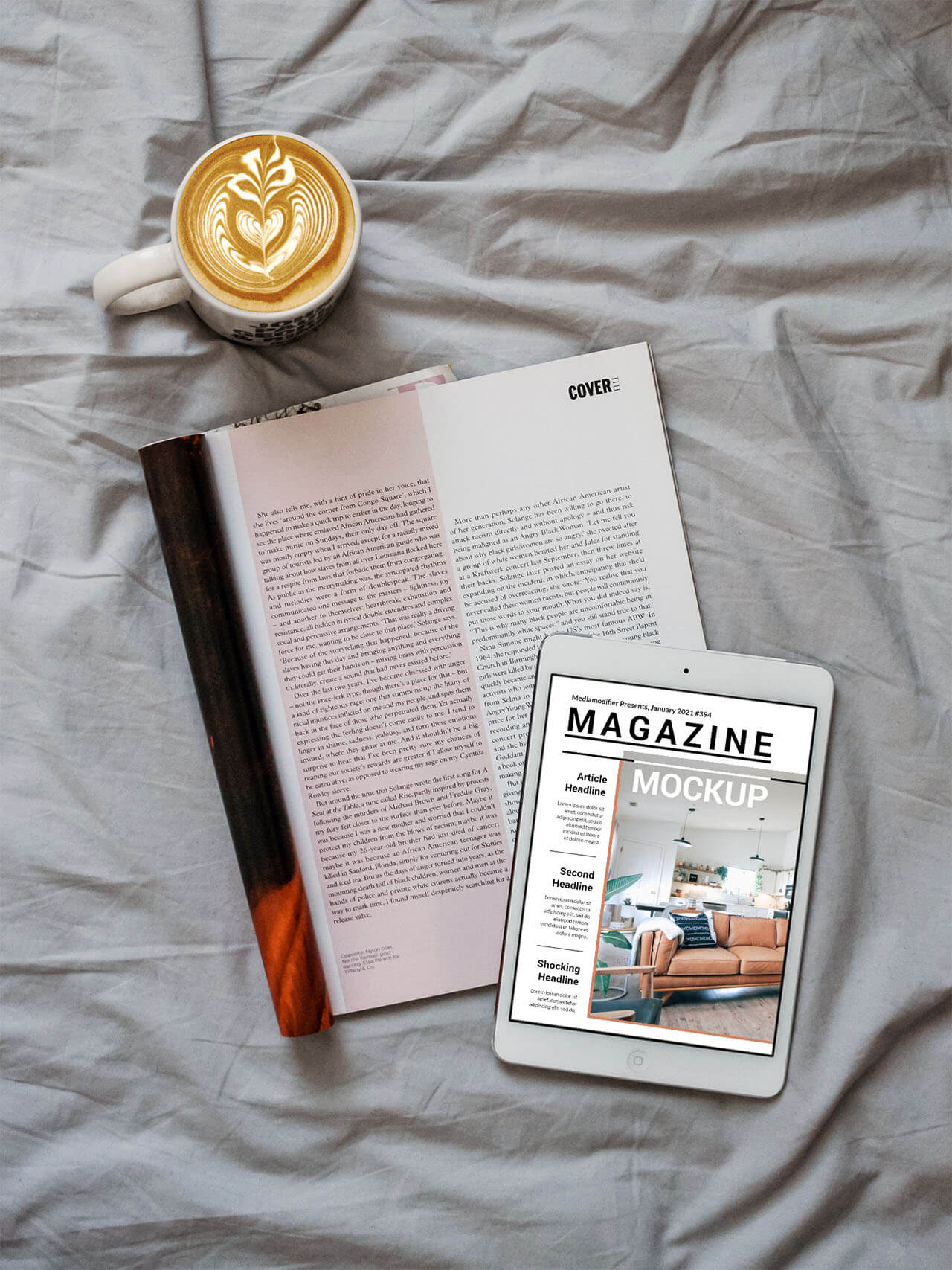 Diseño de revistas: 18-digital-online-magazine-mockup-on-bed