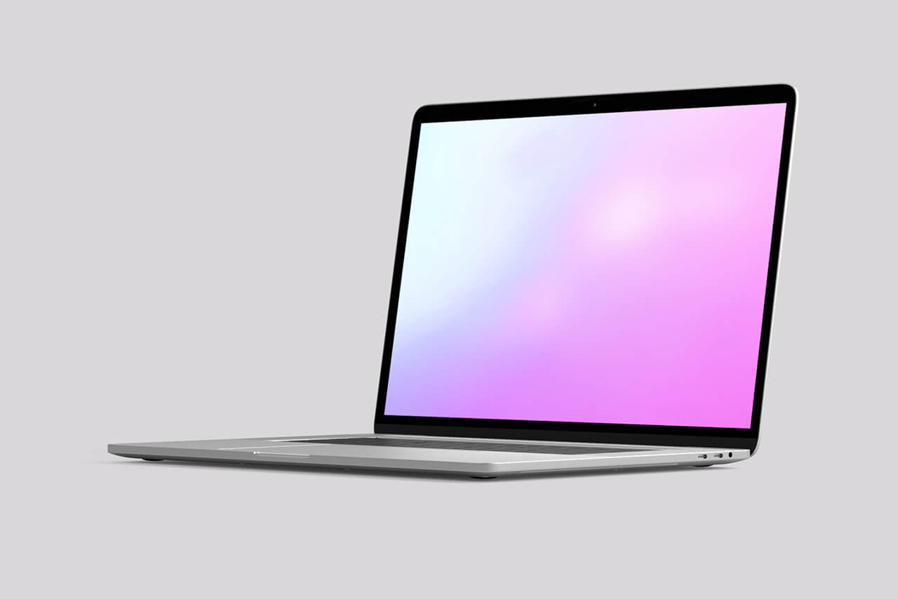 19_turned_side_view_of_Macbook_3D_studio_background