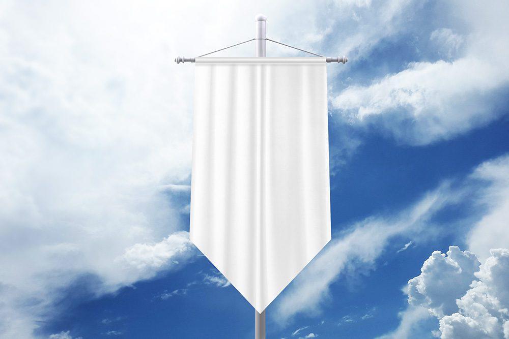 20-pennant-flag-pole-mockup-generator