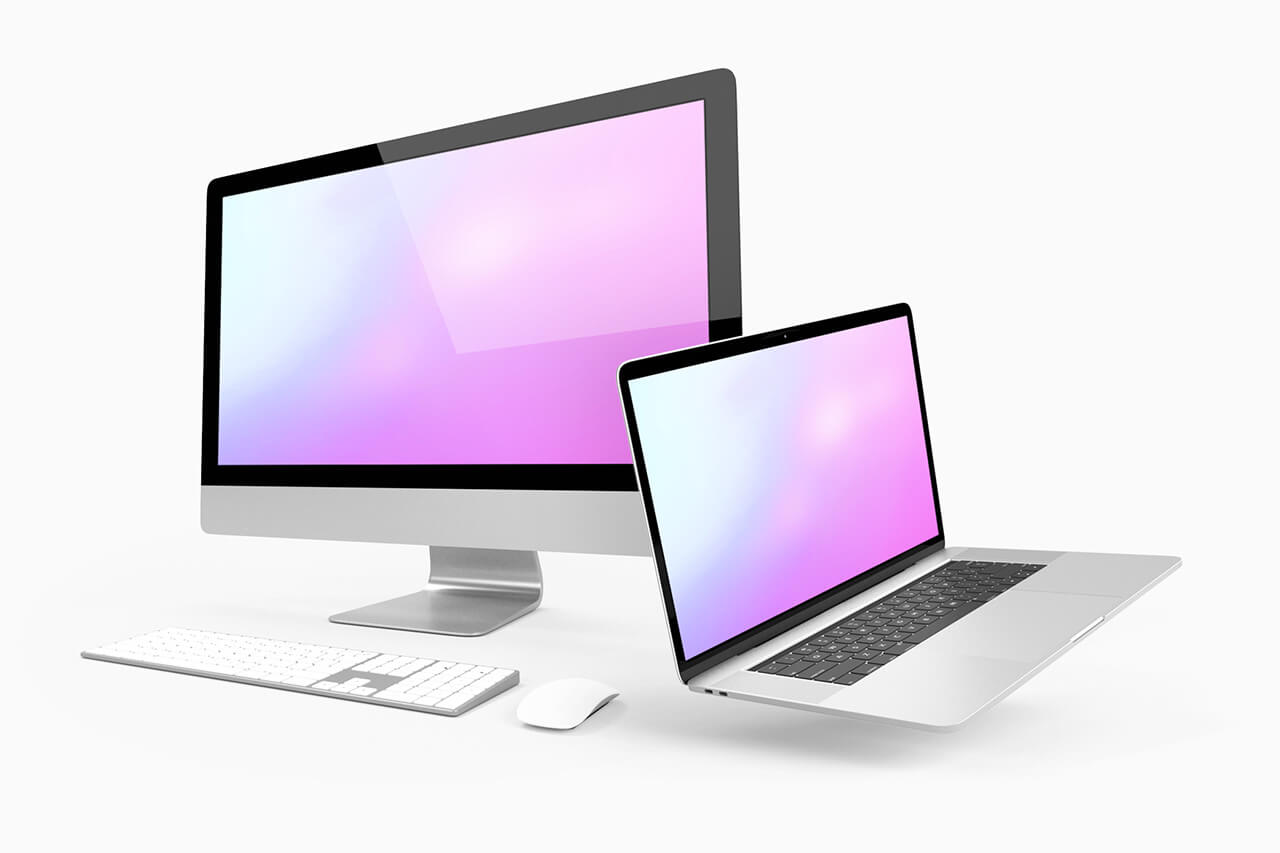 21_iMac_and_macbook_3d_mockup_side_view
