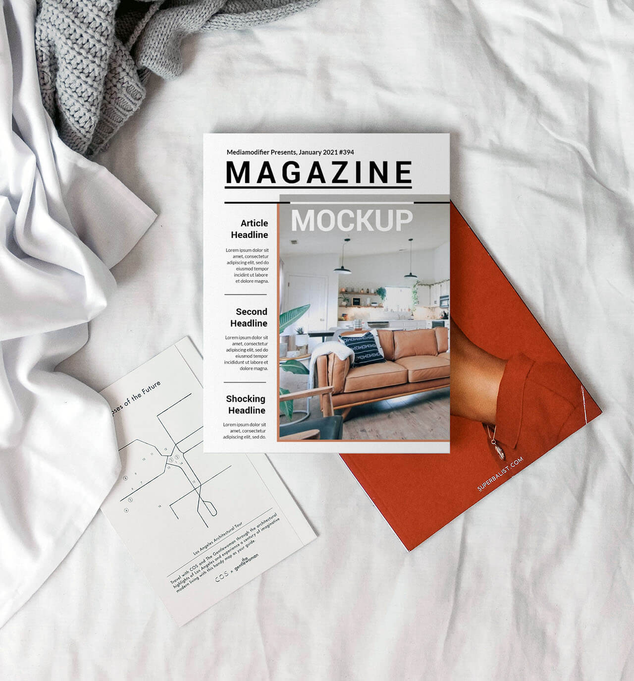 Diseño de revistas: 23-magazine-cover-on-bed-mockup-template