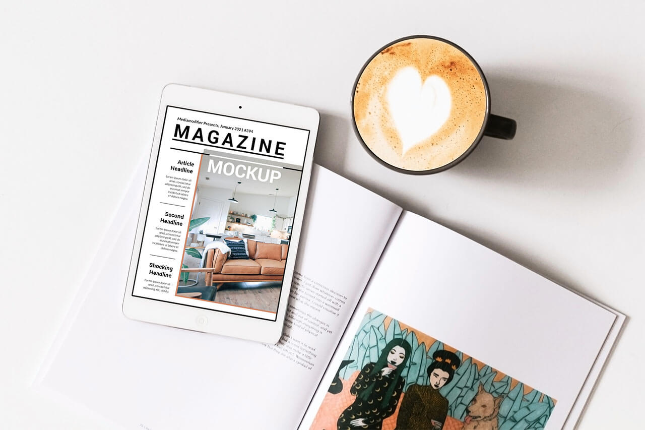 Diseño de revistas: 26-digital-ipad-magazine-mockup-on-desk