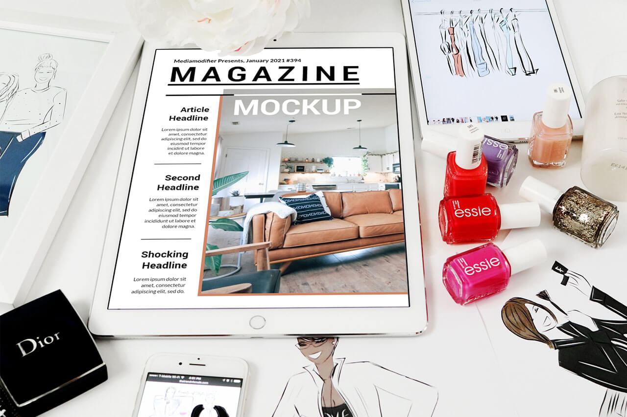 Diseño de revistas: 27-digital-fashion-magazine-mockup-template