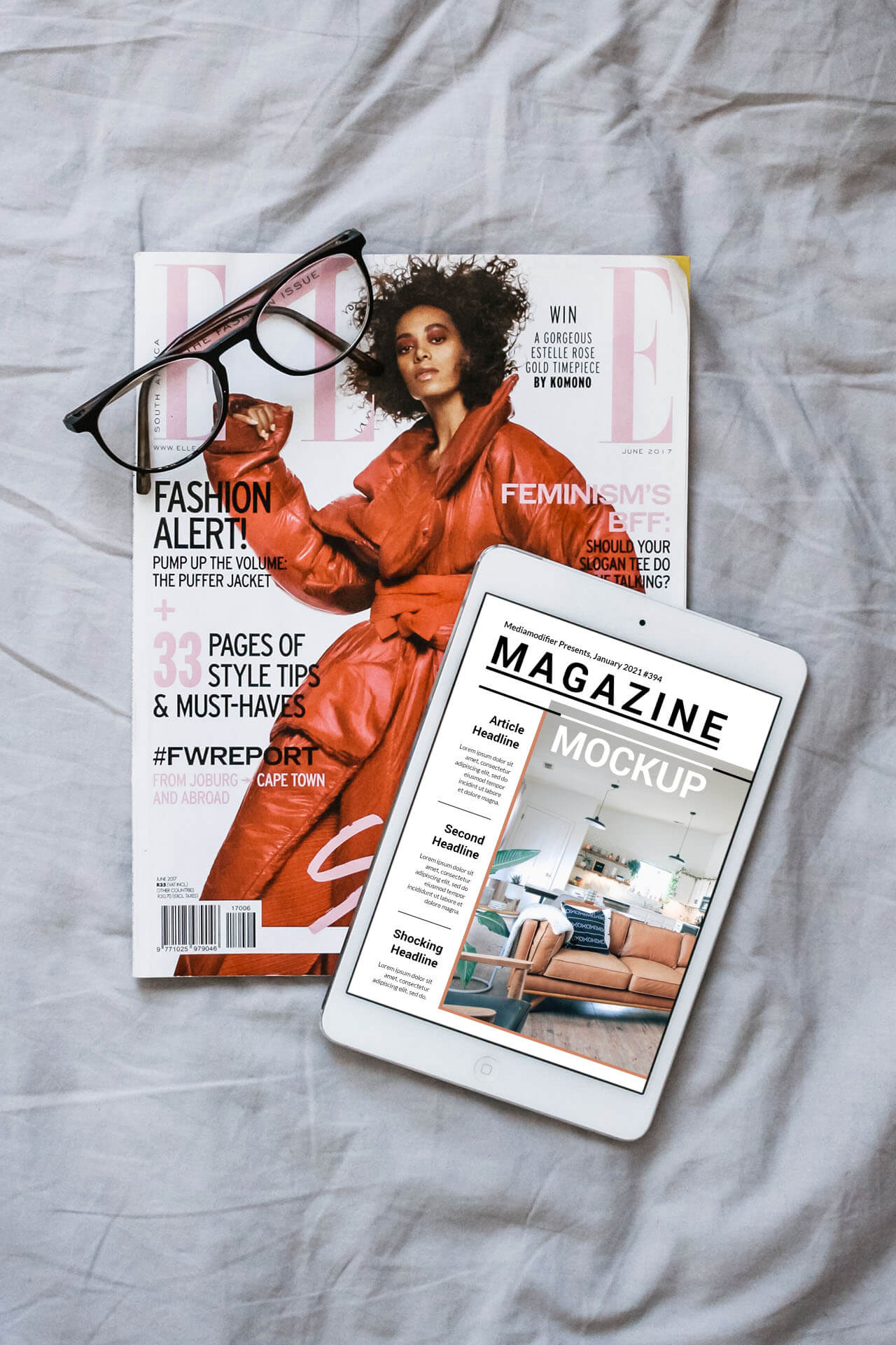 Diseño de revistas: 28-digital-ipad-online-magazine-cover-mockup