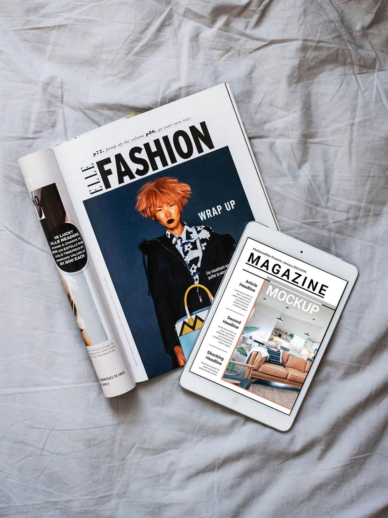 Diseño de revistas: 30-ipad-online-magazine-cover-mockup