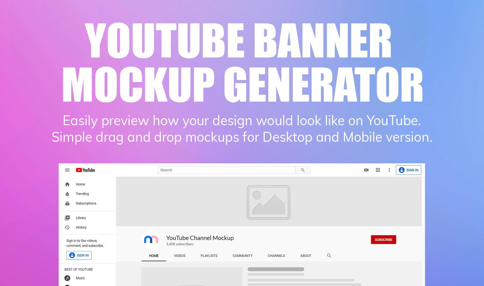 Youtube-banner-mockup-generator