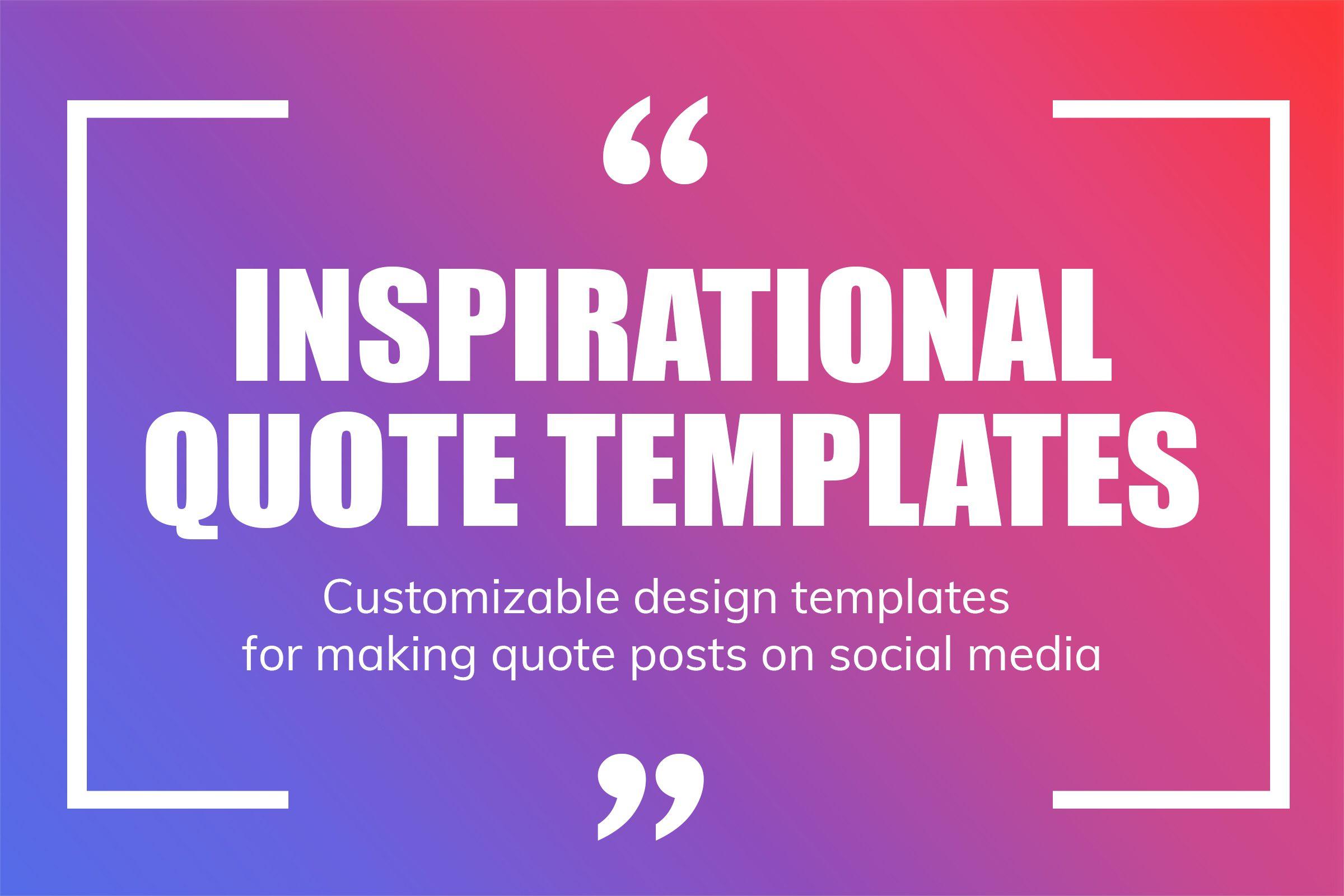 Quote Templates from mediamodifier.com