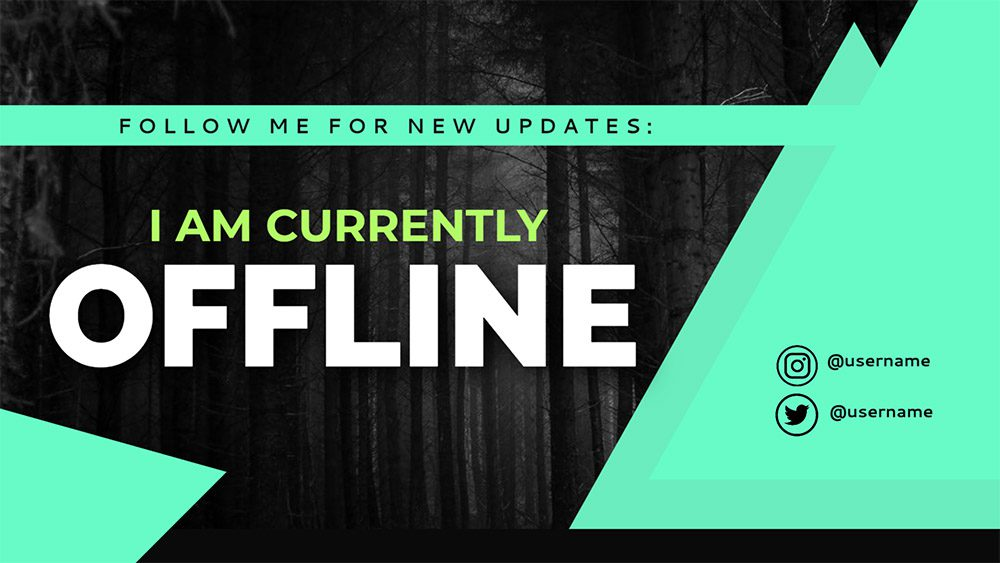12-night-forest-green-twitch-offline-banner-design