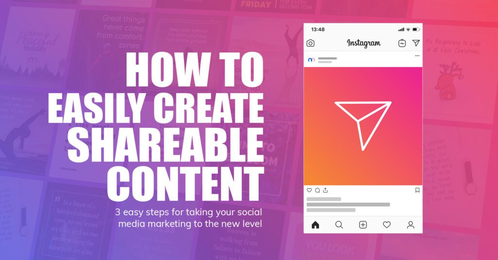 how to make shareable social media content