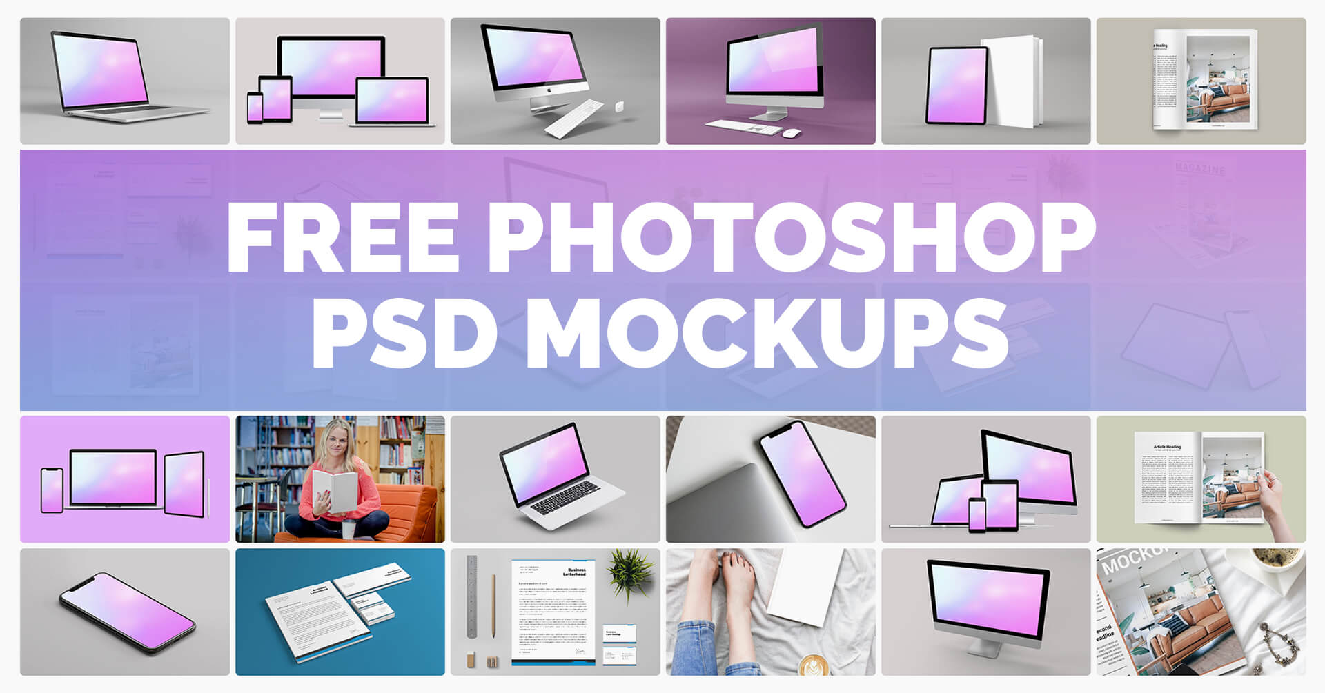Free psd mockups for photoshop
