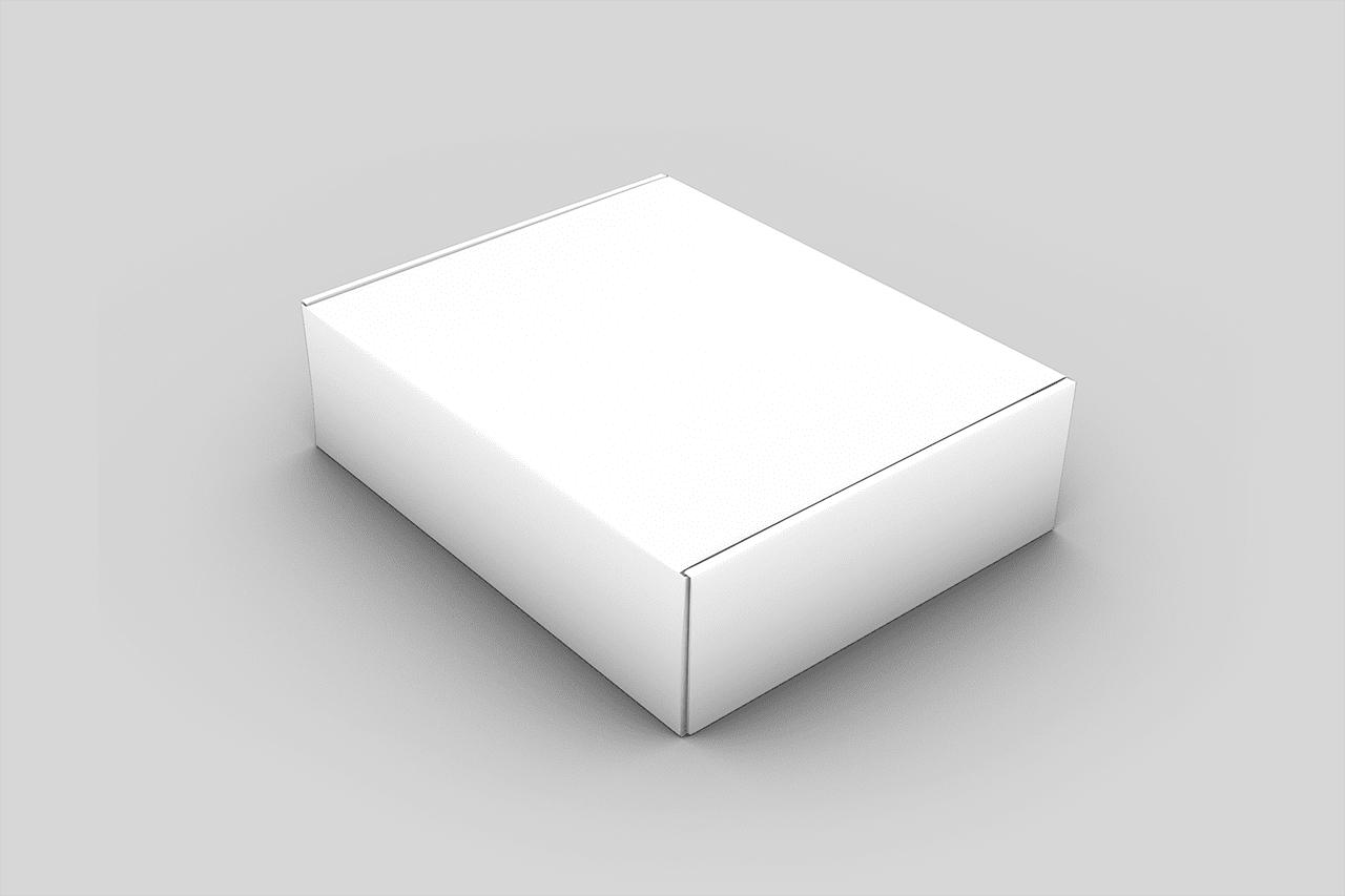 mailer box free psd mockup