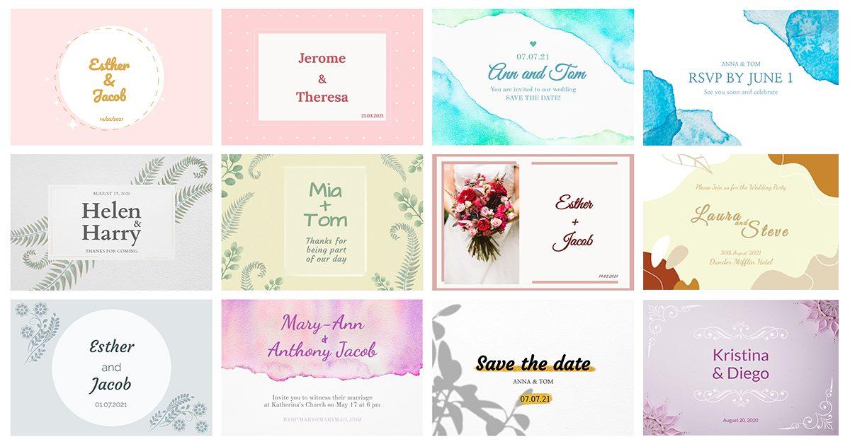 15 Customizable Wedding Invitation Cards Landscape Mediamodifier