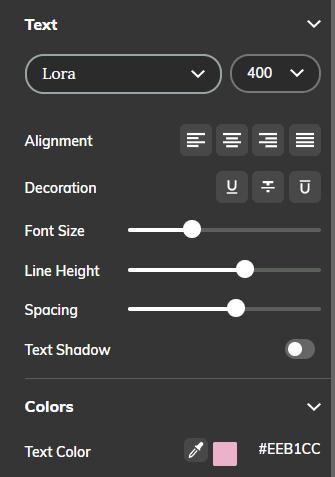 Mediamodifier free design editor text formatting menu tool
