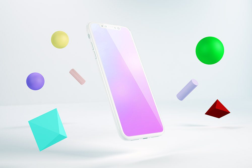 abstract-3d-iphone-clay-white-app-mockup