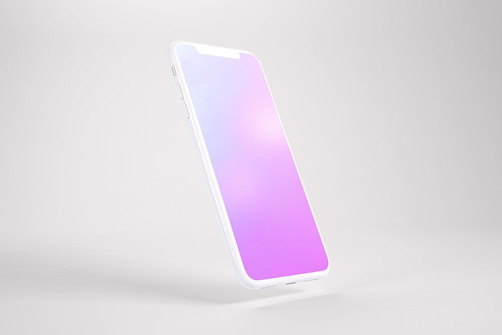 iphone-apps-screen-mockup-with-white-iphone