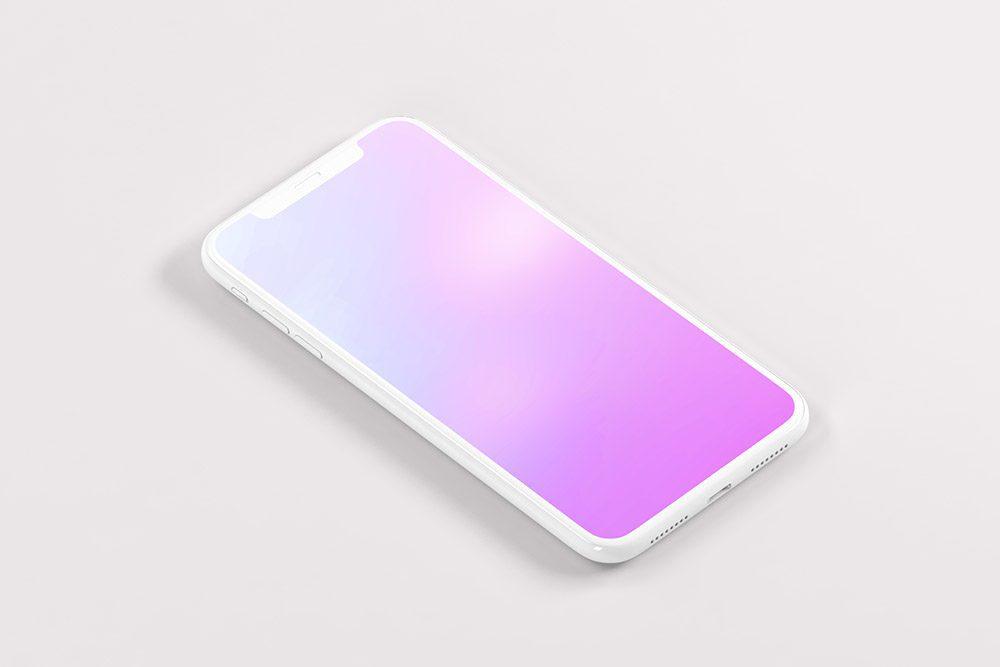 isometric-3d-iphone-white-clay-mockup