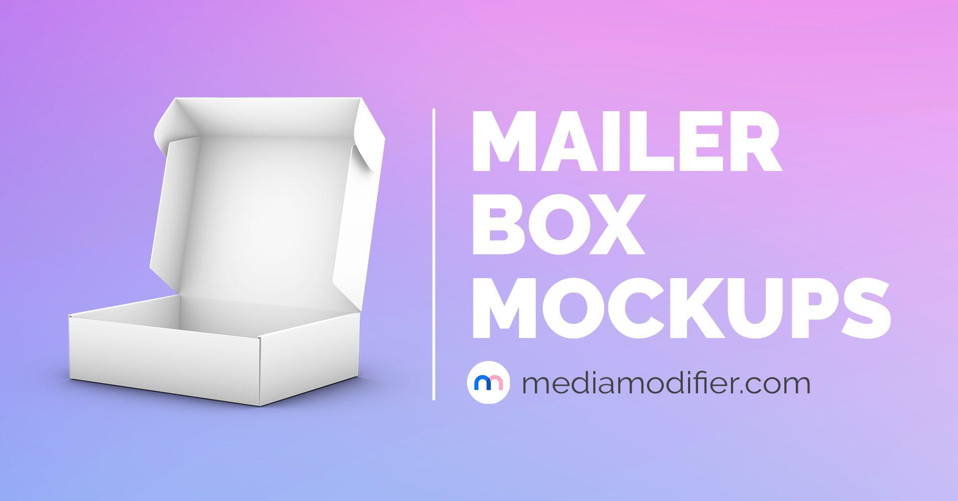 21 Best Mailer Box Mockups  Mediamodifier In Card Box Template Generator