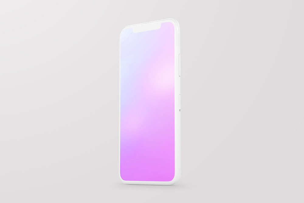 standing-side-view-iphone-clay-mockup
