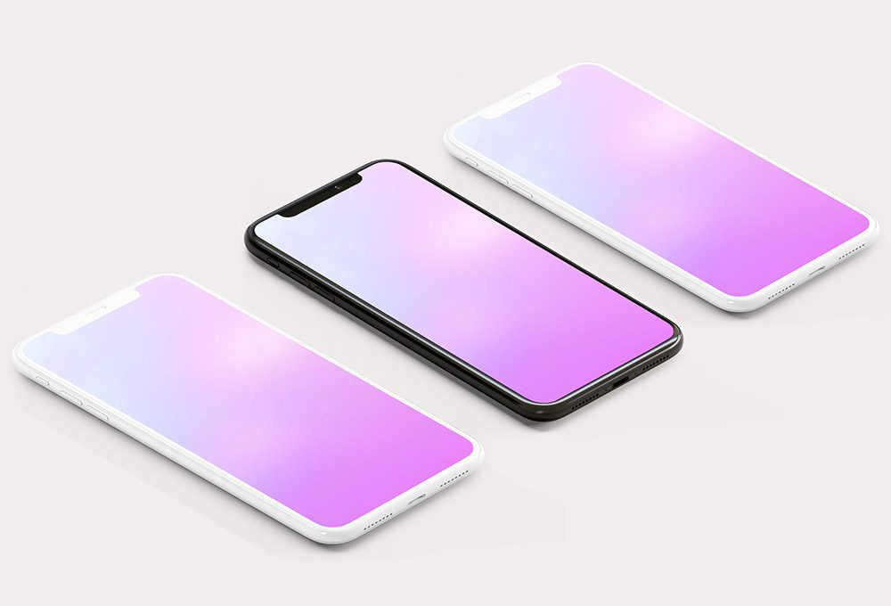 triple-3-iphone-screen-multi-placeholder-iphone-mockup