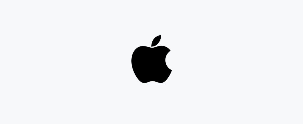 Minimalist logo by Apple