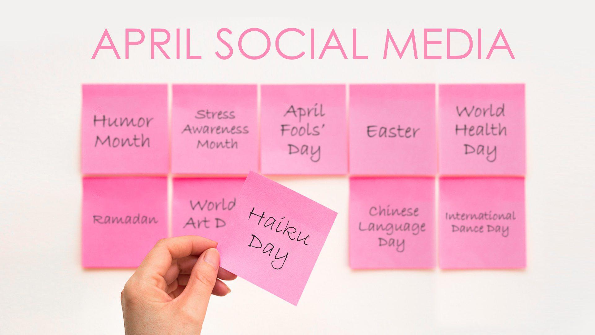 10 post ideas for social media in april cover photo