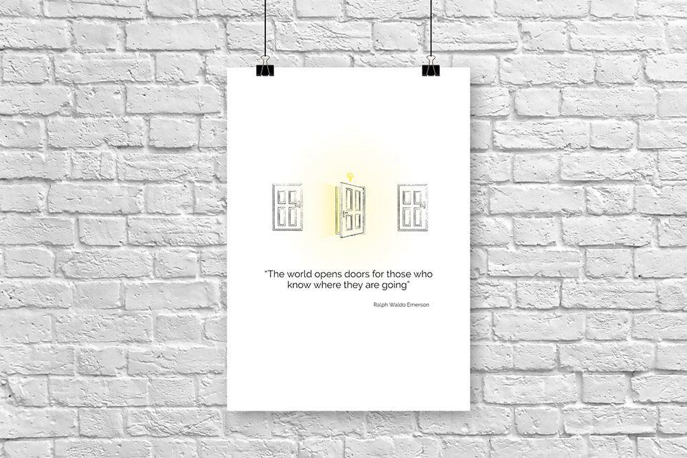 Motivational Poster Wall Art Template