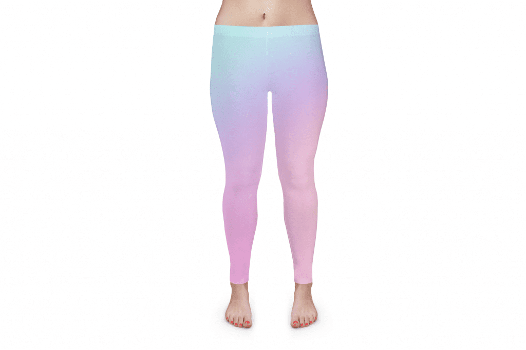 print-on-demand products example of gradient yoga pants