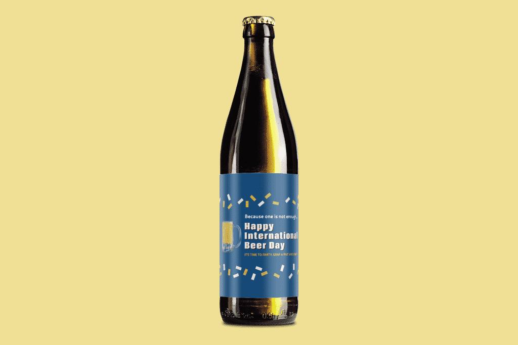 Beer Bottle Label Online Mockup Template